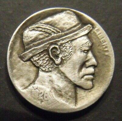 Hand Carved  Hobo nickel  #69 unsigned