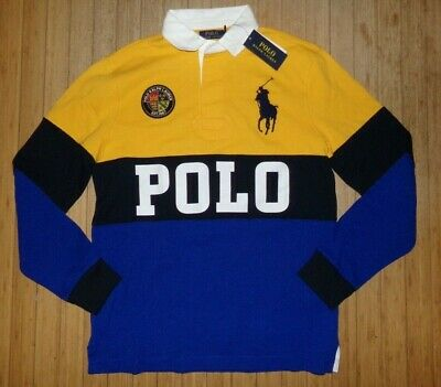 Nwt Mens Ralph Lauren L/S Polo / Rugby Shirt~Slim Fit~Med