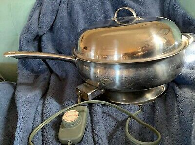 "BELGIQUE PROFESSIONAL 12.5"" Stainless Steel Electric Fry Pan  PA8300"
