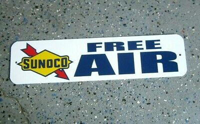 Sunoco Free Air Sign  Service Station  Tire Inflating Meter 260 Gas Oil