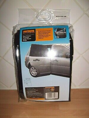 Halfords 2 x rear window sunshade, large square shape, fits most cars, new
