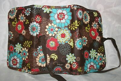 Thirty One Gifts Floral Fanfare Brown Flowers Fold Up Organizer Good Condition