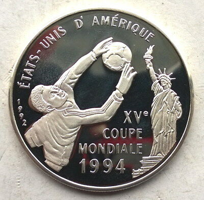 Congo 1994 World Cup 500 Francs Silver Coin,Proof
