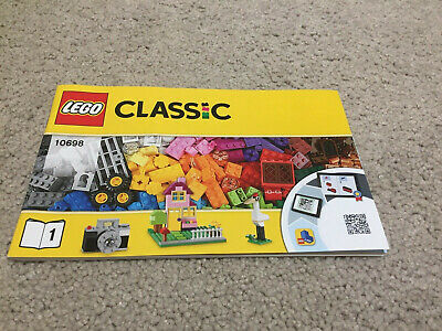 LEGO 10698 Brick Box Classic Large Instruction Manual Only No Lego Pieces