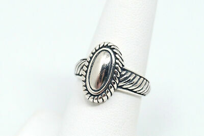 Vintage Designer BRIGHTON Scroll Cable Rope Sterling Silver Ring - Size 6.75