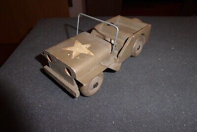 Lego/Brio etc. vintage mint wooden US Army Jeep aus Holz  50ies