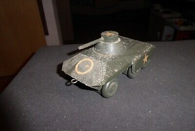 Lego/Brio etc. vintage mint wooden US Army Armoured Car Radpanzer ausHolz  50ies