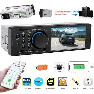 "Autoradio 4.1"" mit Bluetooth Freisprech USB SD AUX FM 7Farben 1DIN MP3 MP5 Video"