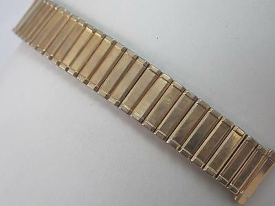 Gemex Mens Vintage Watch Band 18mm Gold Tone Stainless Scissor Expansion NOS