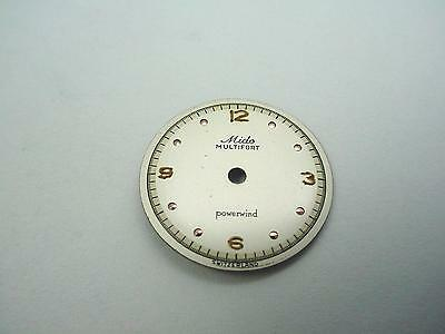 Multifort Powerwind Pearl 17.88mm Vintage Mido Watch Dial Gold Dot Markers NOS