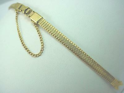 Gold Filled JB Champion Ladies Vintage Watch Band C Ring Butterfly Clasp NOS