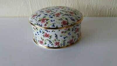 Princess Royale Fine Bone China  -  Trinket Box / Bowl with Lid  -  Floral