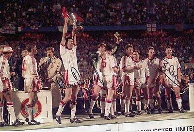 *LOW PRICE* HAND SIGNED 12x8 PHOTO : MAN UNITED 1991 ROBSON & PALLISTER