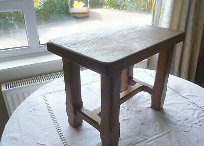 Small Dark Wood Oak Arts and Crafts Style Table