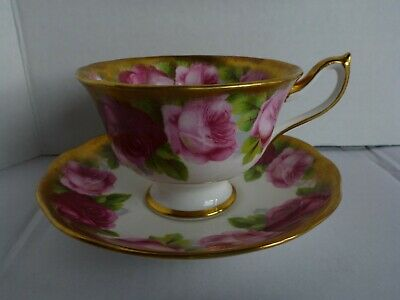 Royal Albert Crown China Old English Rose Teacup And Saucer