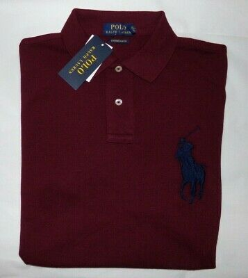 Nwt Mens Ralph Lauren S/S Polo Shirt~Slim Fit~Wine~Sz Med