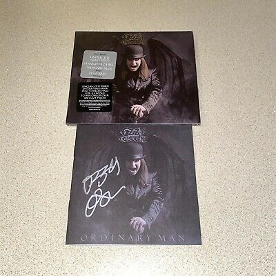 OZZY OSBOURNE ORDINARY MAN DELUXE CD PLUS autographed CD BOOKLET FREE SHIPPING
