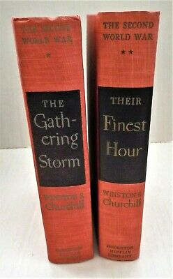 """Winston Churchill's 1948 """"Gathering Storm"""" & 1949 """"Their Finest Hour"""" About WWII"""