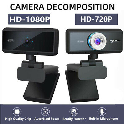 Computer Camera Webcam 1080P/720P 6 Lens Streaming Android HD Pro 360° Full New