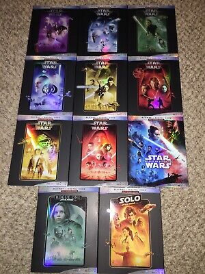 Star Wars Complete Bluray 11 Films Set(with Digital Codes and Rise Of Skywalker)