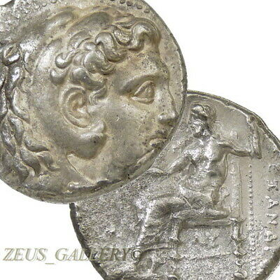 ALEXANDER the Great Tetradrachm Large Ancient Greek Silver Coin Herakles Babylon