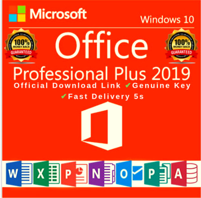 MICROSOFT OFFICE 2019 PROFESSIONAL PLUS  32/64bit License Key ✅