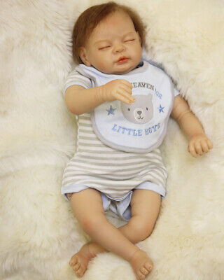 Reborn Baby Doll Boys 22 inch Soft Silicone Vinyl Realistic Children's Toy Gift