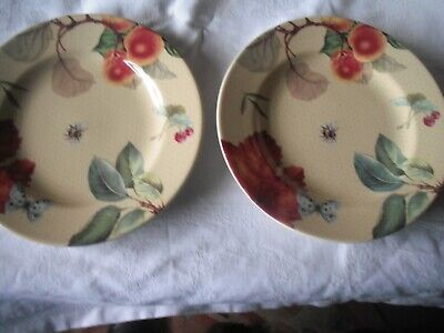 """Pair of SPODE Fruit Haven 7.5"""" Side Plates"""