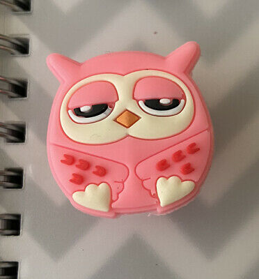 Crocs Jitbit Shoe Charm Decoration Accessory Pink Owl Character
