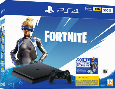 Sony playstation PS4 CONSOLE 500GB F CHASSIS SLIM BLACK + FORTNITE VCH (2019)