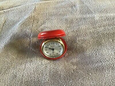 Vintage Seth Thomas Travel Alarm Clock Working 7 Jewels