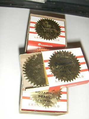 NEW Gold Foil Notary & Certificate Seals, 1 9/16 Inch Burst, Pack of 120