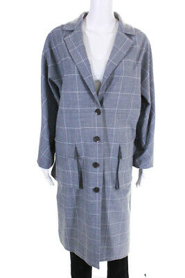 Lela Rose Womens Button Down Notched Lapel Cocoon Coat Gray Wool Size 14