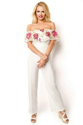 Carmen-Overall with Flower Embroidery