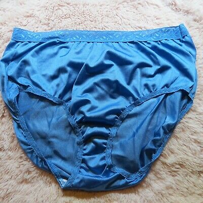 SHINY Nylon Panties *BLUE* Briefs FRUIT OF THE LOOM Panties Size 9 XL