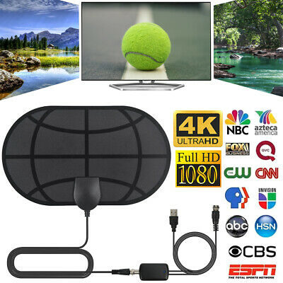 980 Mile Range Antenna with Amplifier TV Digital 1080P HD HDTV 4K Skywire Dishes