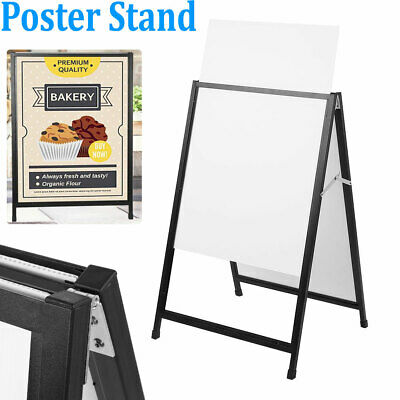 """35x23.6"""" Heavy Duty A Frame Advertising Sign Board Double Side Poster Iron Stand"""