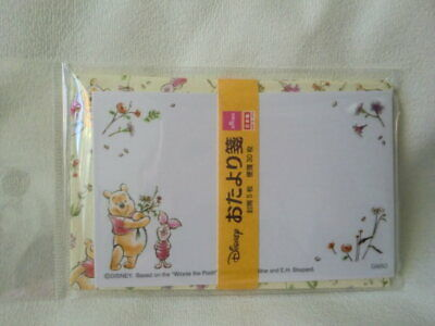 Disney Winnie the Pooh mini message card  letter set NEW