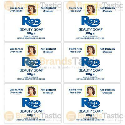 6 x REO ANTISEPTIC ACNE PRONE SKIN BEAUTY SOAPS ANTIBACTERIAL CLEANSER 80G
