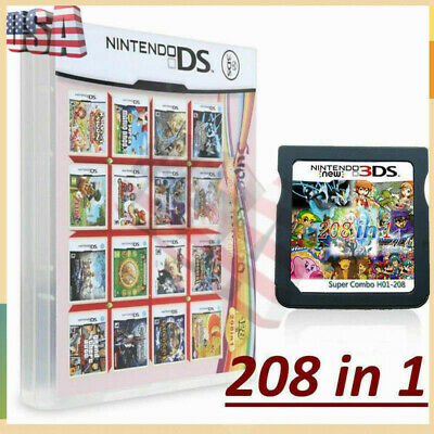 208 in 1 Games Cartridge Multicart For Nintendo DS NDS NDSI NDSL Game Consoles