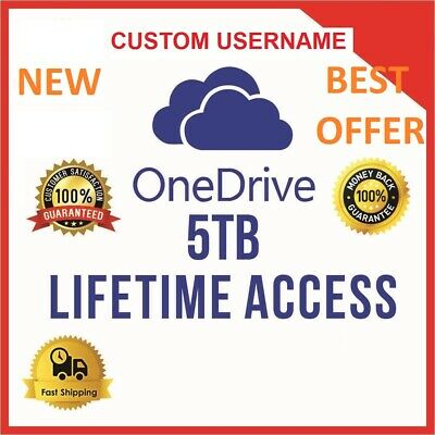 Onedrive 5TB CUSTOM Account - Best Price - Fast Delivery 60m - **NEW**