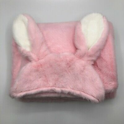 Little Miracles Pink Bunny Rabbit Hooded Blanket for Babies & Toddlers
