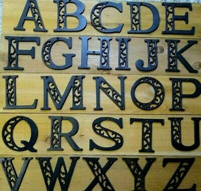 USA SELLER Ornate Cast Iron Alphabet Letters A-Z  Rustic Brown Priced Each