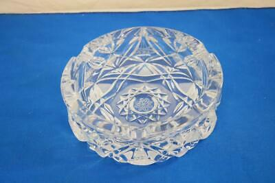 Vintage Crystal Star of David Ashtray Very Heavy Exquisite