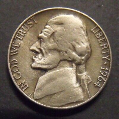 Hand Carved  Hobo nickel  Poor Ole Jeff  unsigned