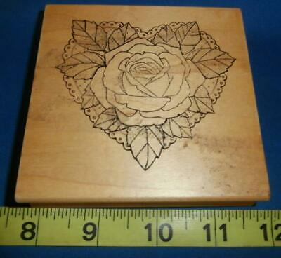 Rubber Stamp ROSE DOILY Scrapbooking Cards