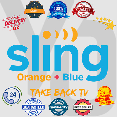 SlingTV Orange + Blue Account 📺 Lifetime Warranty 😲 Instant Delivery (5 sec)