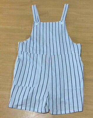 Girls size 9 MOSSIMO white navy stripe summer PLAYSUIT  play suit  NEW