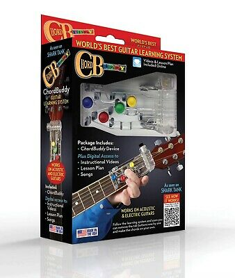 CHORD BUDDY Guitar Learning Playing System ALL NEW & IMPROVED! 2020 EDITION
