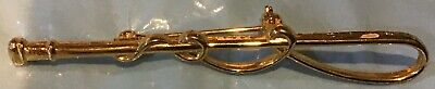 Horse Whip Brass or Gold Like Costume Pin #2